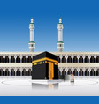 kaaba mecca saudi arabia vector image