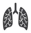 lungs glyph icon medicine and healthcare vector image