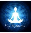 Meditation yoga woman silhouette vector image vector image