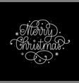 merry christmas fine line art calligraphy design vector image