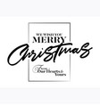 merry christmas inscription greeting card vector image