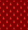 merry christmas tree toy ball red seamless pattern vector image vector image
