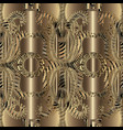 modern gold 3d greek seamless pattern ornamental vector image vector image