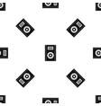 music speaker pattern seamless black vector image vector image