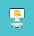 pay per click flat design concept vector image vector image