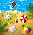 People relaxing at the beach vector image vector image