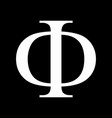 phi greek sign vector image vector image