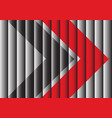 red black arrow on gray shutter design modern vector image