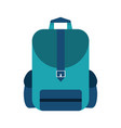 school backpack symbol vector image vector image