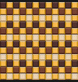 seamless pattern made of chocolate cubes sweets vector image vector image