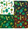 Seamless pattern with houseplants indoor and vector image vector image