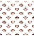 seamless pattern with monkey faces vector image