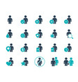 set human colored icon men with different vector image vector image