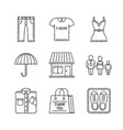 set of clothes icons in sketch style vector image vector image