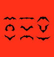 set of different bats isolated on red vector image vector image