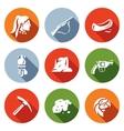Set of Redskin Icons Red man Shotgun vector image