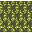 Spring wild flower leaves field seamless pattern vector image
