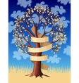 Tree with banner vector image vector image