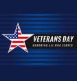 veterans day usa star banner vector image vector image
