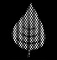 white dotted plant leaf icon vector image vector image