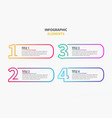 white numbers infographic set vector image vector image