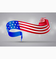 american flag ribbon banner symbol 4 july vector image
