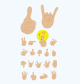 Finger gesture set vector image