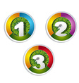 1 2 3 option button with grass element vector image vector image