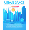 3d city concept urban background vector image