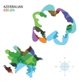 Abstract color map of Azerbaijan vector image vector image