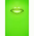 advertisement woman lips poster vector image vector image