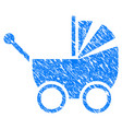 baby carriage grunge icon vector image vector image