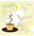 Background with a cup of coffee vector | Price: 1 Credit (USD $1)