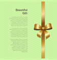 beautiful gift certificate or greeting card design vector image