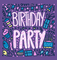 birthday party poster concept design vector image