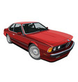bmw e24 6 series lt red large vector image