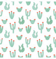 botanical seamless pattern with hand drawn green vector image vector image