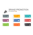 brand promotion infographic 10 option line concept vector image vector image