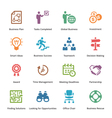 Business Icons Set 3 - Colored Series vector image