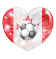 canada soccer heart flag vector image vector image