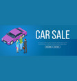car sale banner vector image vector image