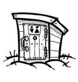 cartoon image of toilet icon toilet symbol vector image vector image
