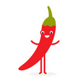 chili cute vegetable character vector image vector image