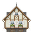 classic half timbered house vector image