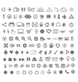 complete icon set vector image vector image