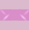 curved wavy pink lines optical pattern vector image