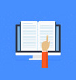 distance learning online vector image