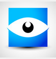 eye shape over square - eye icon eye logo vector image