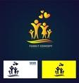 Family member logo icon vector image