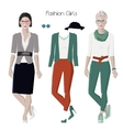 Fashion girls set vector image vector image